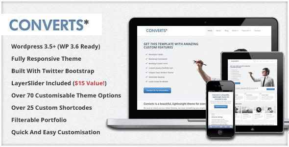 Converts - Responsive Bootstrap WordPress Theme