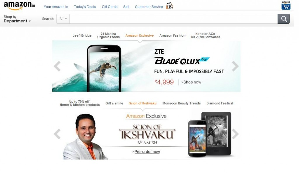 amazone Online Shopping Websites in India