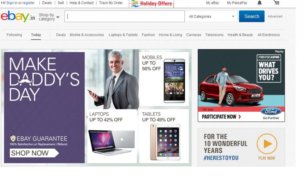 ebay Online Shopping Websites in India