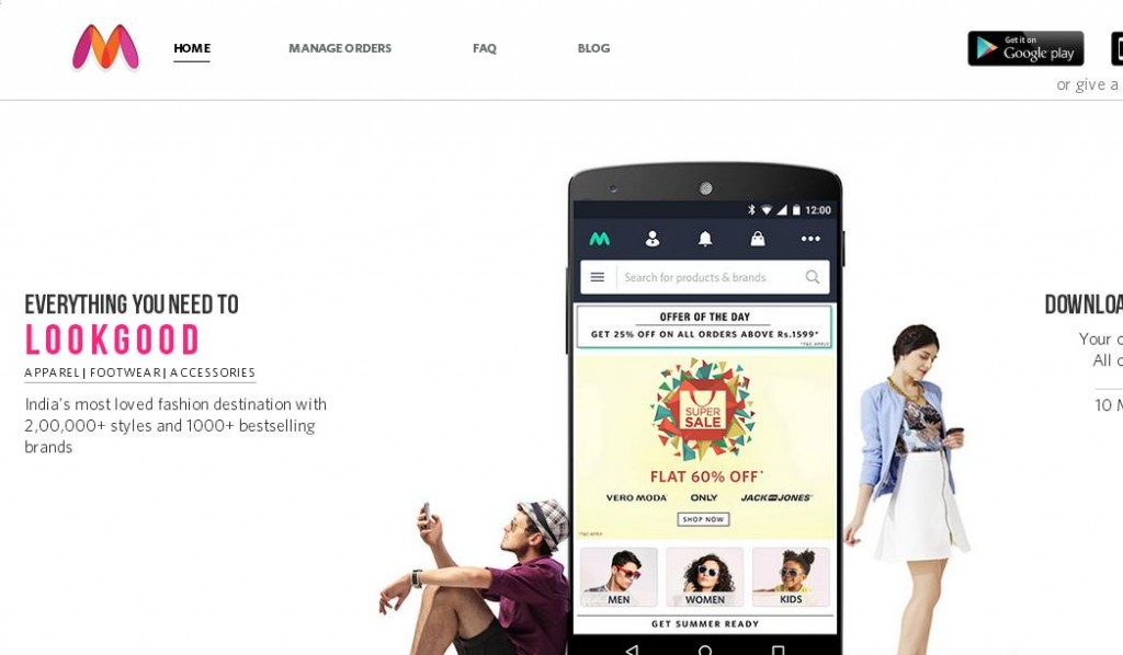 myntra Online Shopping Websites in India