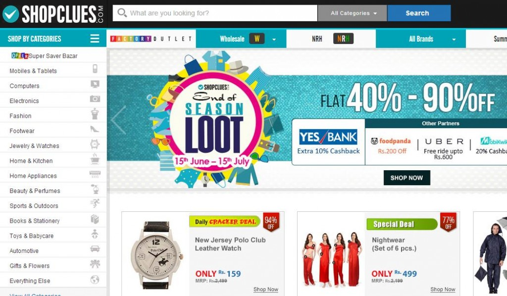 shopclues Online Shopping Websites in India
