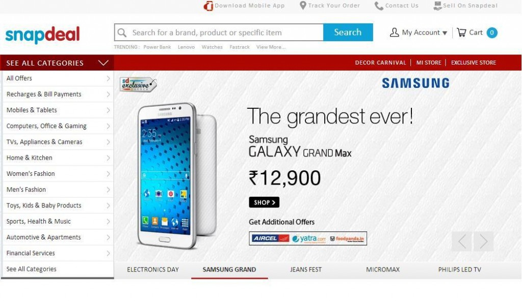 snapdeal Online Shopping Websites in India