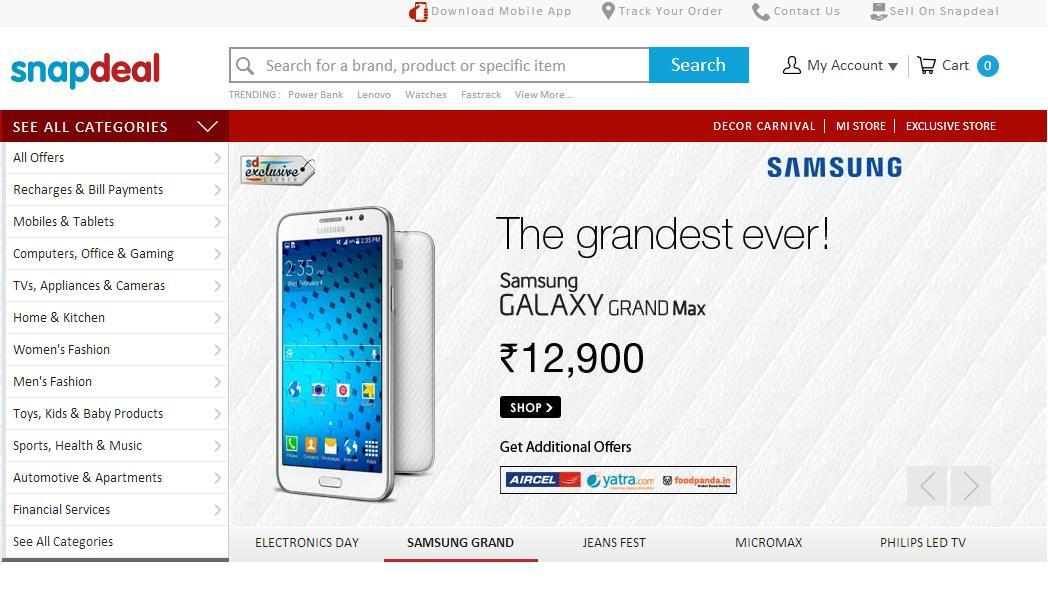 a910e6150 snapdeal Online Shopping Websites in India