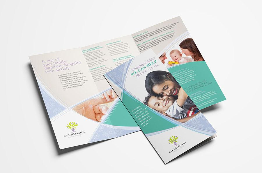Counselling Service Tri-Fold Brochure Template