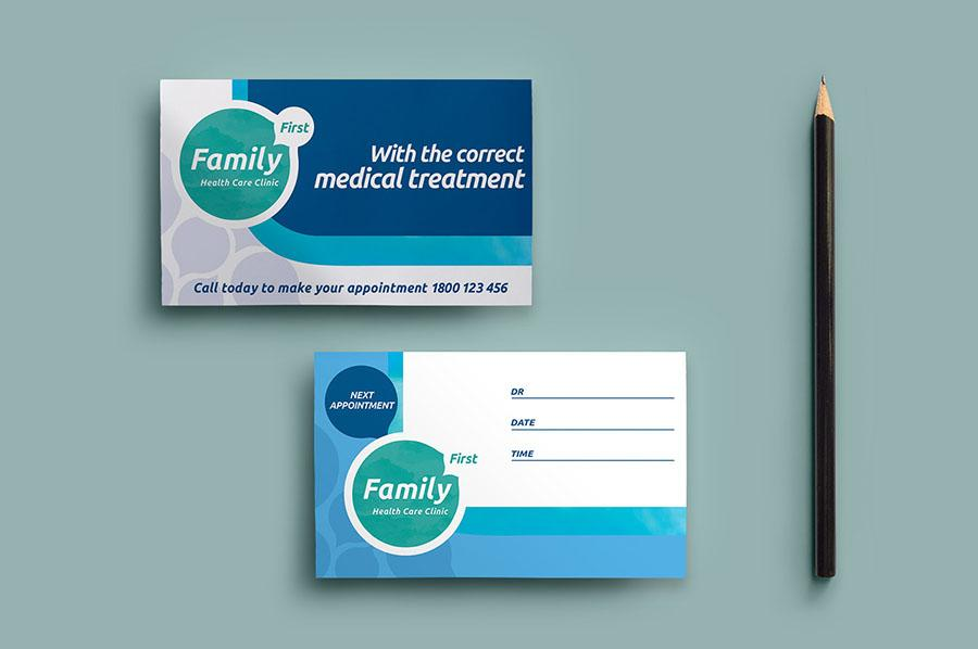 Healthcare Clinic Appointment Card Template
