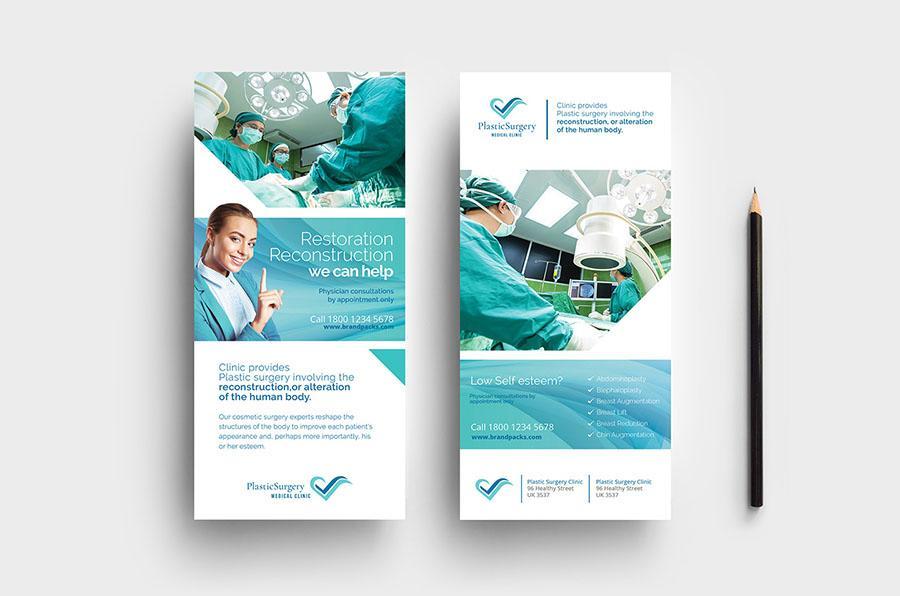 Hospital DL Card Template
