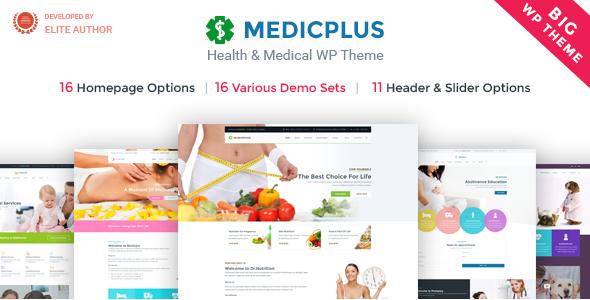 Medic+ Health - Medical & Health WordPress Theme