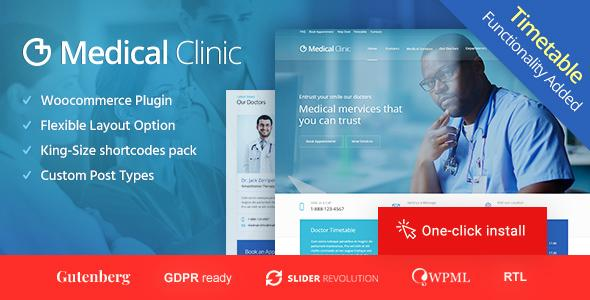 Medical Clinic & Doctor WordPress Theme