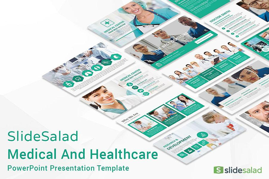 Medical PowerPoint Template by SlideSalad
