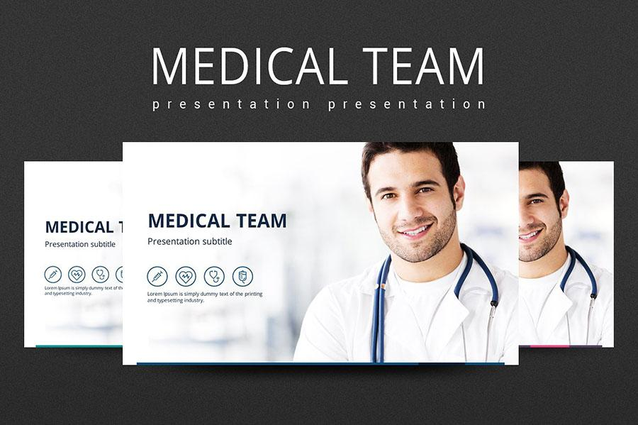 Medical Team PowerPoint Template
