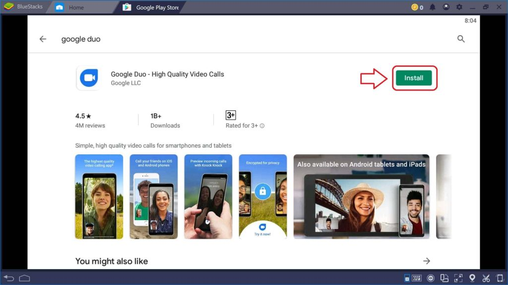 install google duo on pc