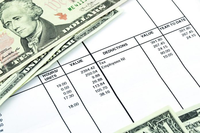 printed pay stub